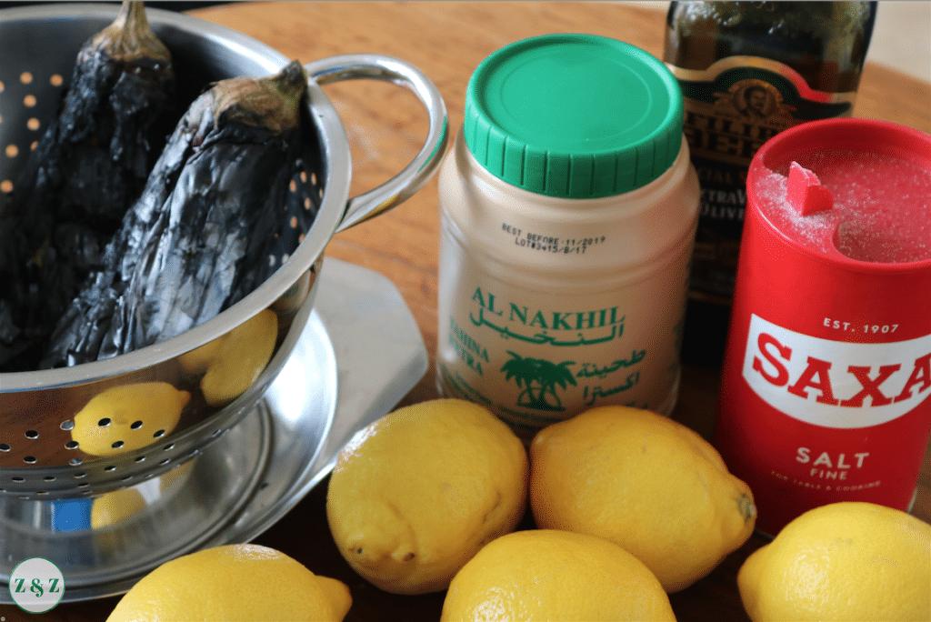 Drain aubergine in colander