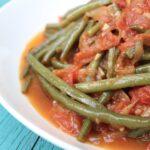 Lebanese Green Bean Stew (Loubia b'zeit)