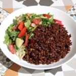 Mjadara Hamra (Red Lentils with bulgur wheat)