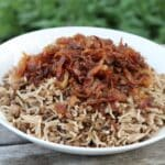 Lentil Rice with Caramalised Onions (Mjadaret Riz)