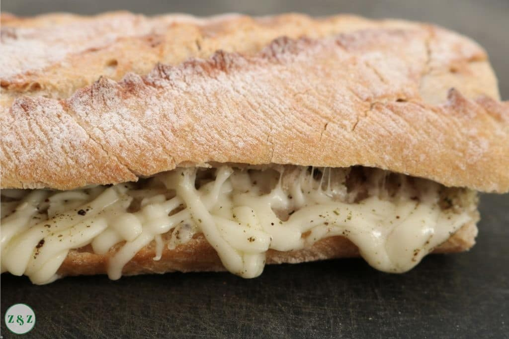 cheese and zaatar on stone baked bread