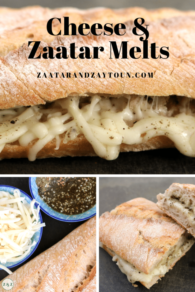 cheese and zaatar melts