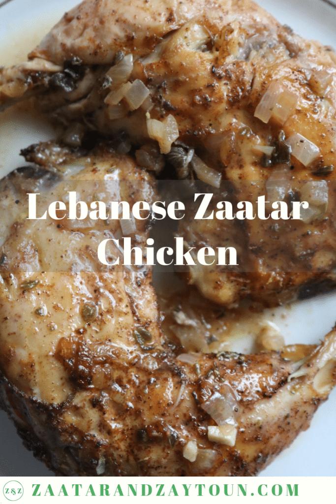 Lebanese zaatar chicken
