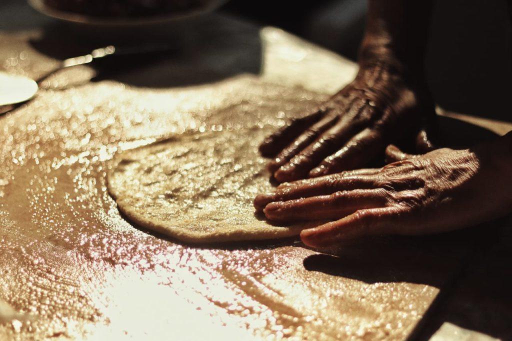 roll the manakish dough