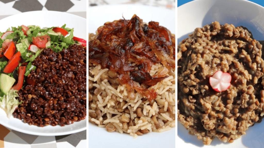 3 lebanese mujadara recipes