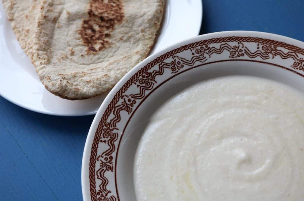 lebanese kishik and pitta bread