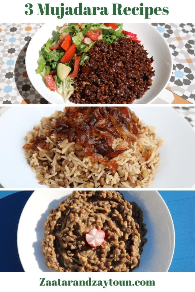 3 mujadara recipes