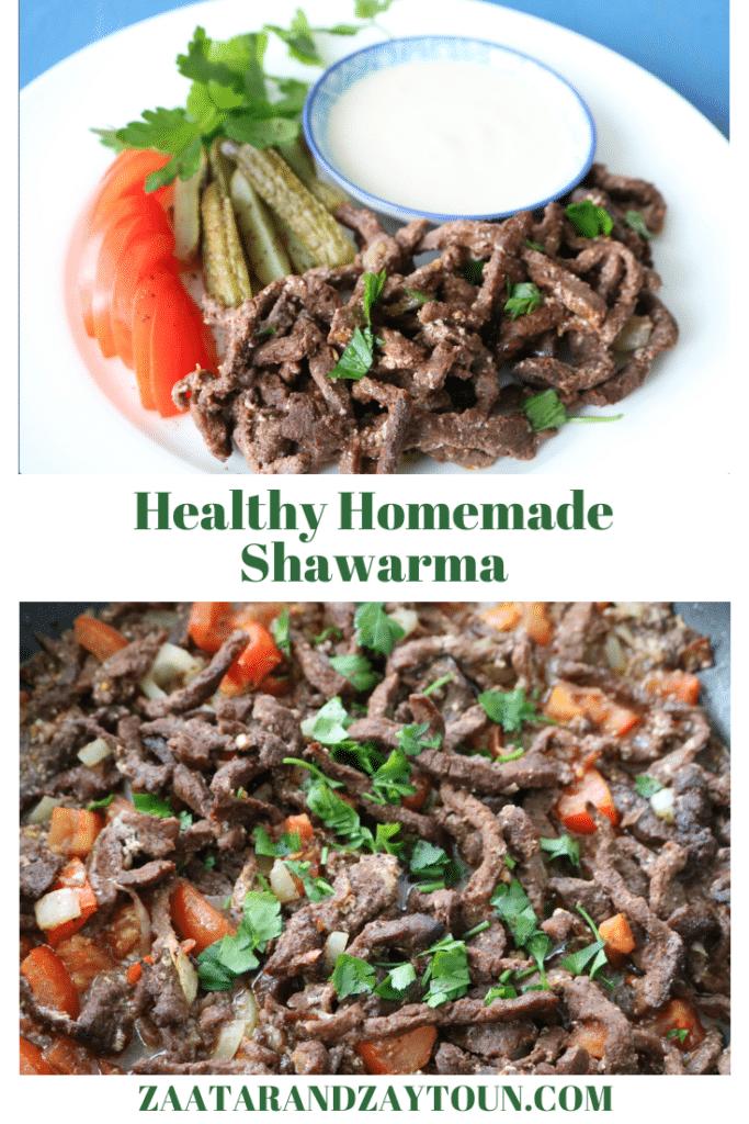 healthy homemade shawarma