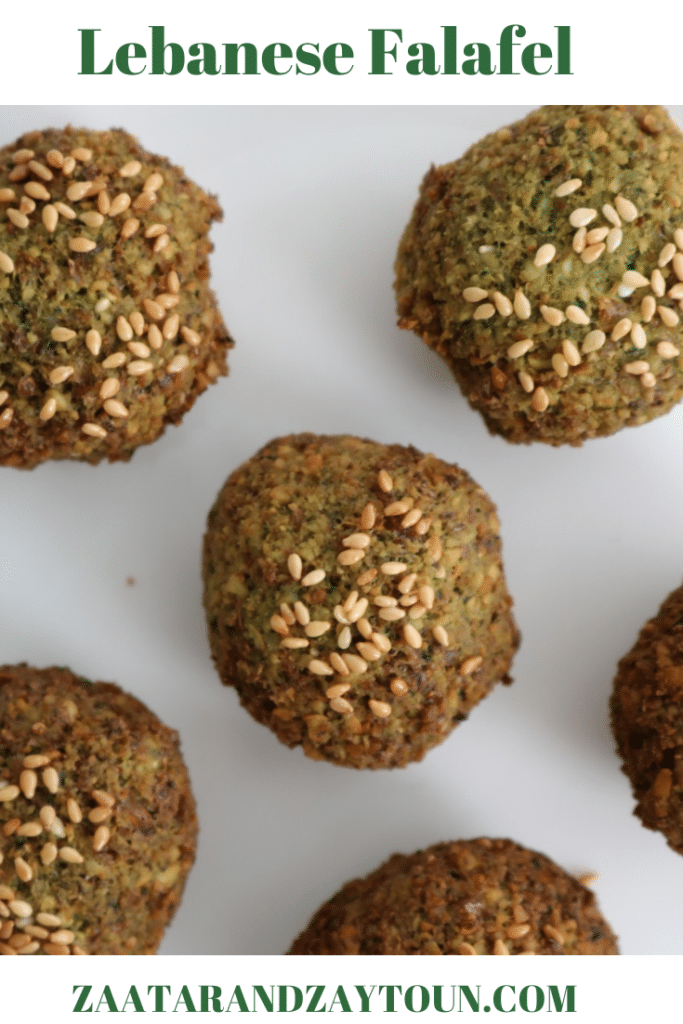 How to make Lebanese Falafel