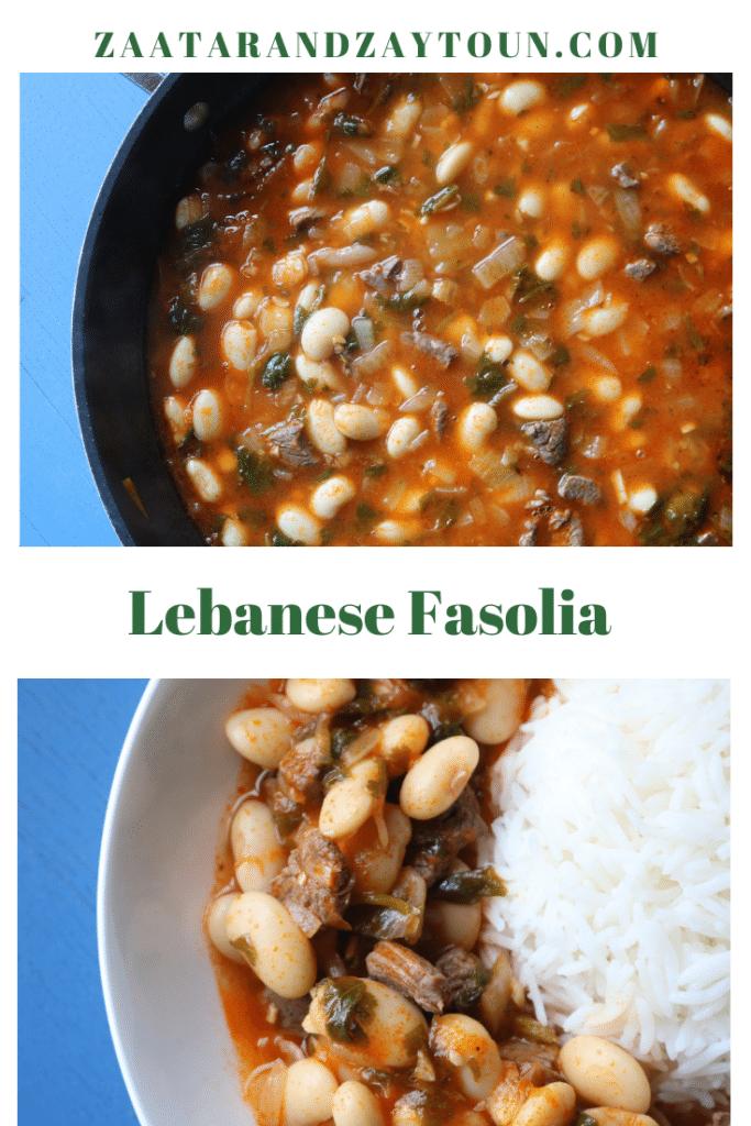 How to make lebanese white bean stew