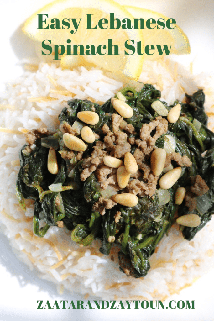 Easy Lebanese Spinach stew
