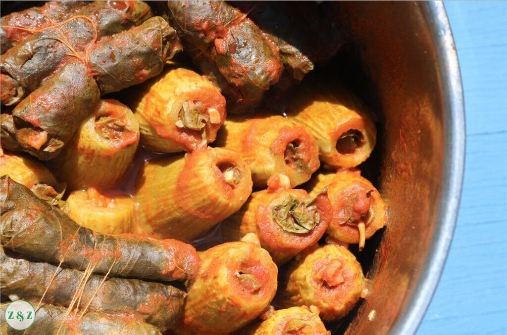 cooked kousa