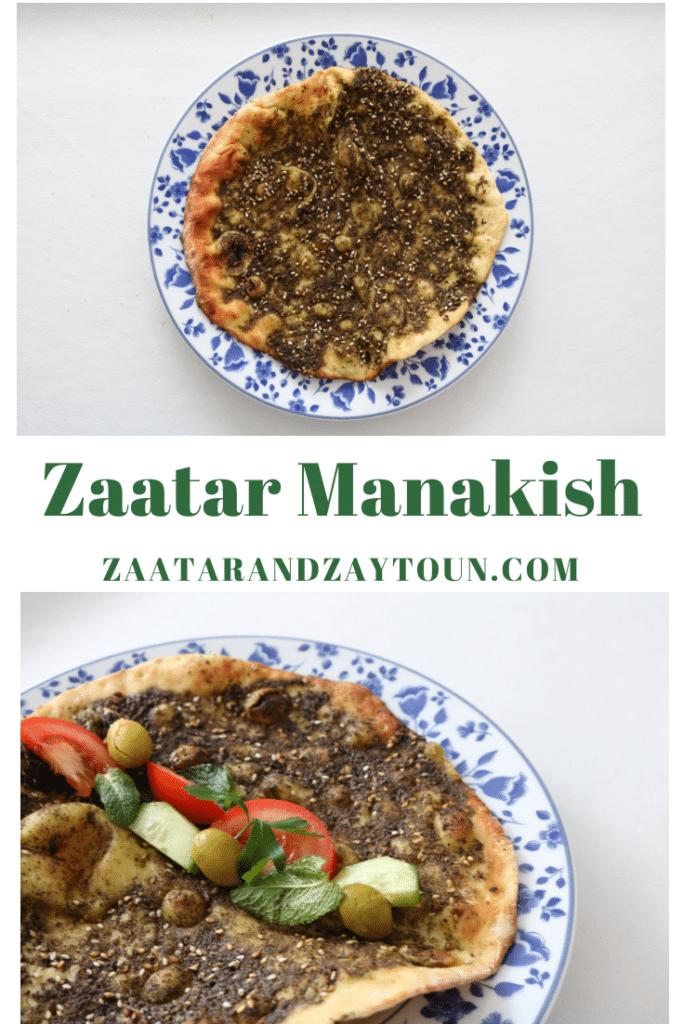 How to make zaatar manakish