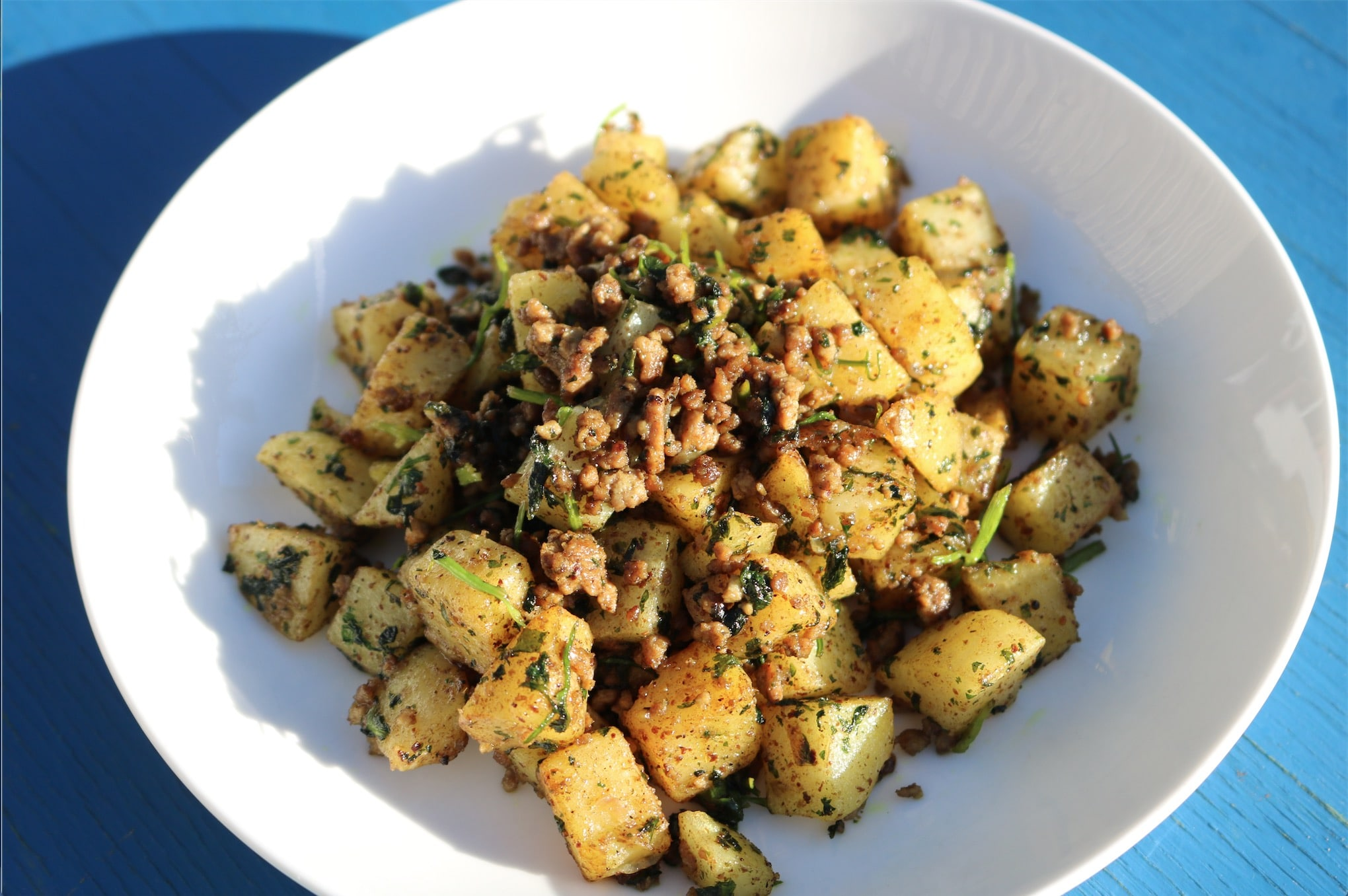 Lebanese Spicy Mince and Potatoes