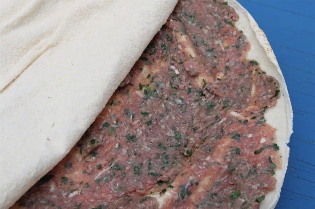 Arayes - Meat stuffed flatbread