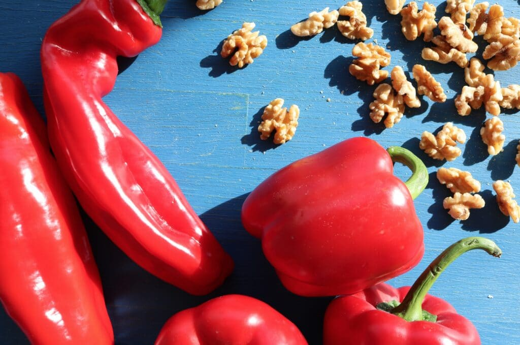 Peppers and walnuts for muhammara