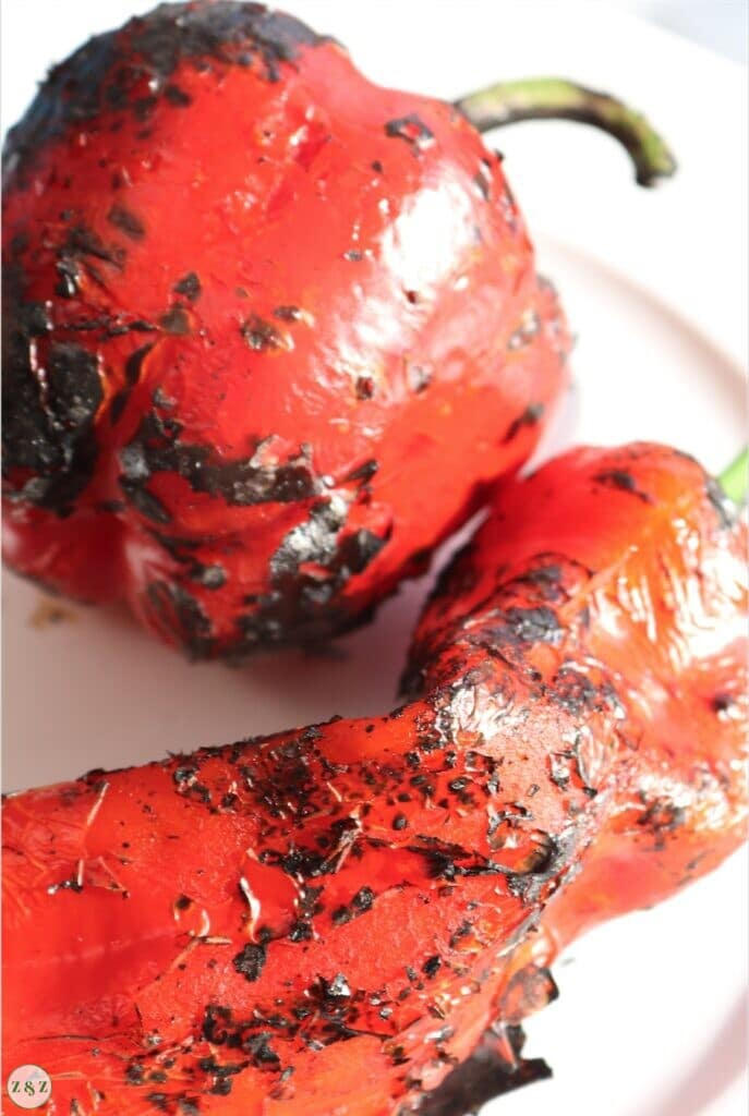 Scorched peppers