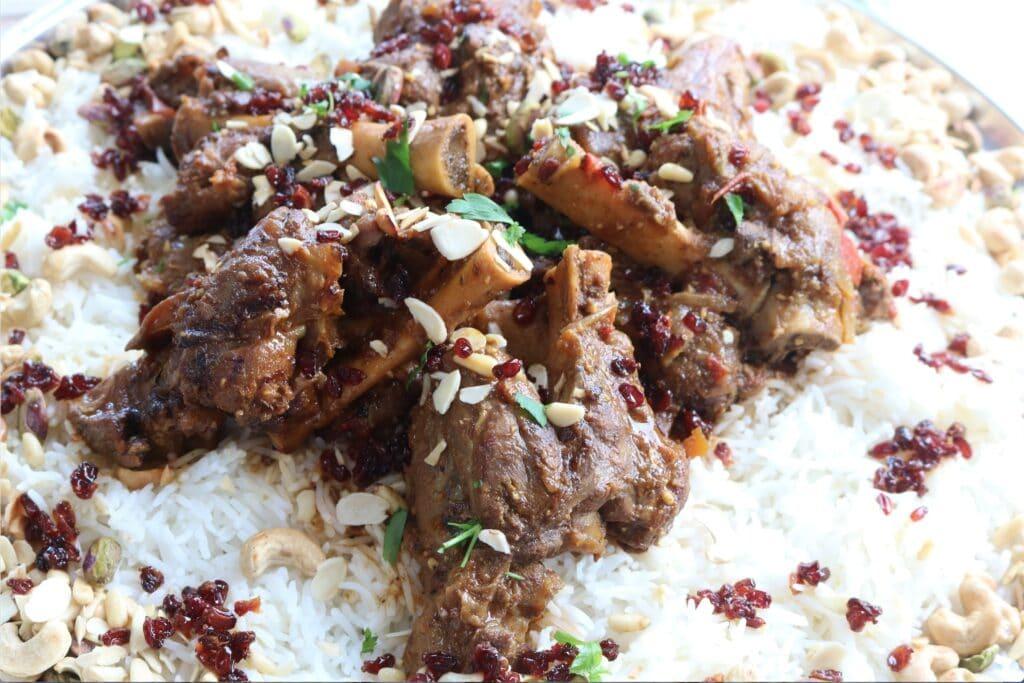lamb shanks on rice